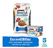 Beneful IncrediBites Dog Food With Real Beef Tomatoes Carrots & Wild Rice Box - 3-3 Oz