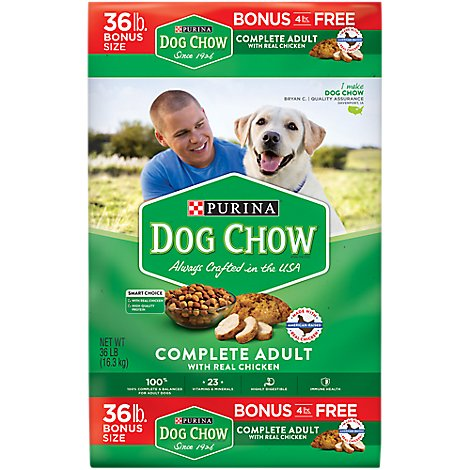 Dog Chow Dog Food Dry Complete Chicken - 36 Lb