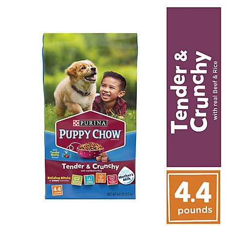 Puppy Chow Dog Food Dry Tender And Crunchy Beef - 4.4 Lb