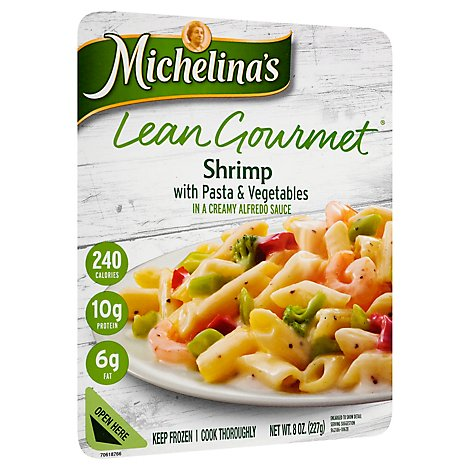 Michelinas Lean Gourmet Frozen Meal Shrimp with Pasta & Vegetables - 8 Oz