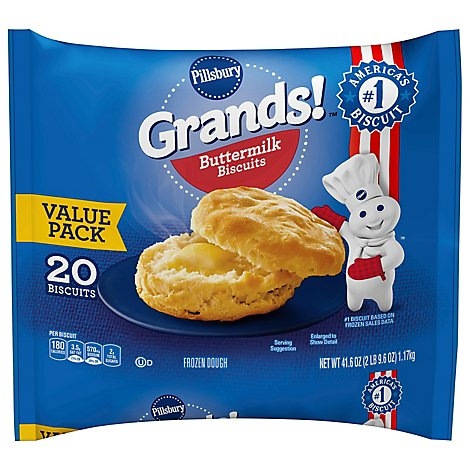 Pillsbury Grands! Biscuits Buttermilk Value Pack 20 Count - 41.6 Oz