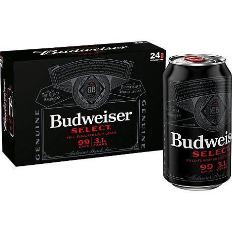 Budweiser Select Beer Cans - 24-12Fl. Oz.