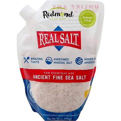 Real Salt Sea Salt Fine - 26 Oz