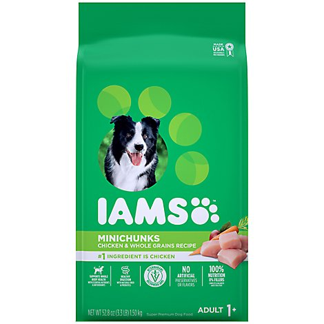 IAMS Proactive Health Dog Food Dry Adult Minichunks Small Kibble With Real Chicken - 3.3 Lb