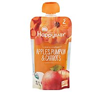 Happy Baby Organics Apples Pumpkin & Carrots - 4 Oz