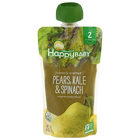 Happy Baby Organics Pears Kale & Spinach - 4 Oz