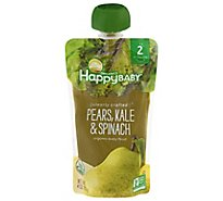 Happy Baby Organics Organic Baby Food Pears Kale & Spinach - 4 Oz