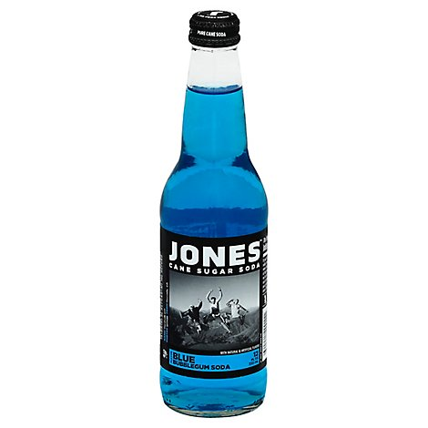 Jones Blue Bubble Gum Soda - 12 Oz