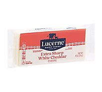 Lucerne Cheese Chunk Cheddar White Extra Sharp - 8 Oz