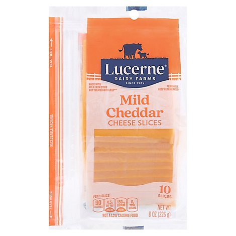 Lucerne Cheese Slices Mild Cheddar - 10 Count