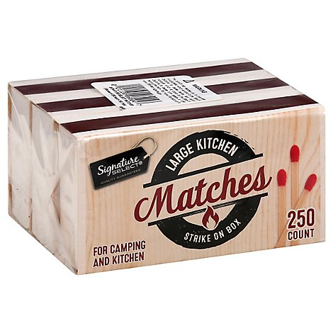 Signature SELECT Matches Kitchen Strike on Box Large - 250 Count