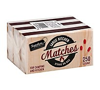 Signature SELECT/Home Matches Kitchen Strike on Box Large - 250 Count