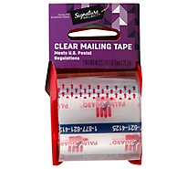 Signature Home Tape Mailing Clear 2x800 Inch Pack - Each