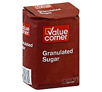 Value Corner Sugar Granulated - 4 Lb