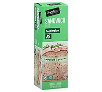 Signature SELECT Sandwich Bags Resealable Extra Large BPA Free - 30 Count