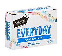Signature SELECT Toothpicks Everyday Round - 250 Count
