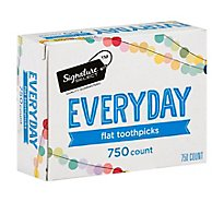 Signature SELECT Toothpicks Everyday Flat - 750 Count