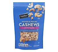 Signature SELECT Cashews Halves & Pieces Lightly Salted - 5 Oz