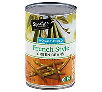 Signature SELECT Beans Green French Style No Salt Added Can - 14.5 Oz