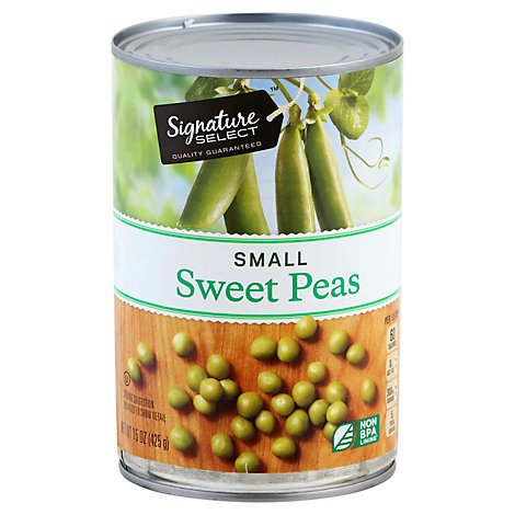 Signature SELECT/Kitchens Peas Sweet Small - 15 Oz
