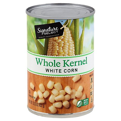 Signature SELECT/Kitchens Corn Whole Kernel White Can - 15.25 Oz