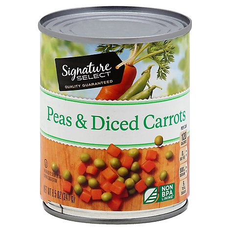 Signature SELECT Peas & Diced Carrots - 8 Oz