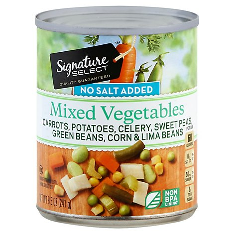 Signature SELECT/Kitchens Mixed Vegetables No Salt Added Can - 8.5 Oz