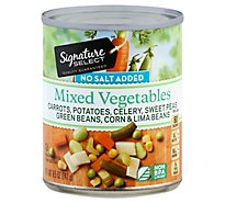 Signature SELECT Mixed Vegetables No Salt Added Can - 8.5 Oz