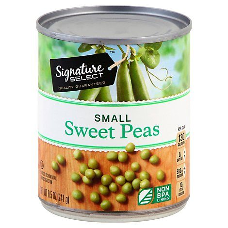 Signature SELECT/Kitchens Peas Sweet Small - 8.5 Oz