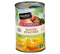 Signature SELECT Peaches Slices No Sugar Added - 14.5 Oz