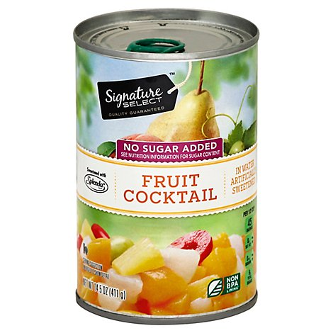 Signature SELECT/Kitchens Fruit Cocktail In Water With Splenda - 14.5 Oz