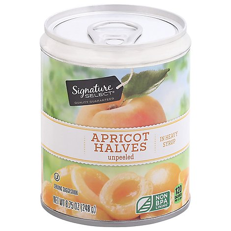 Signature SELECT Apricot Halves in Heavy Syrup Unpeeled - 8.75 Oz