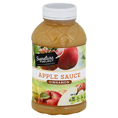 Signature SELECT Apple Sauce Cinnamon - 48 Oz