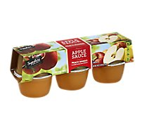 Signature SELECT/Kitchens Apple Sauce Peach Mango Cups - 6-4 Oz