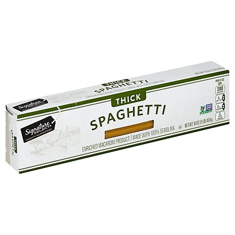 Signature SELECT Pasta Spaghetti Thick Box - 16 Oz