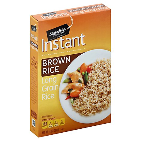 Signature SELECT Rice Brown Instant - 14 Oz