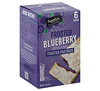 Signature SELECT Toaster Pastries Frosted Blueberry 6 Count - 11 Oz