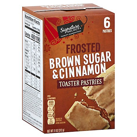 Signature SELECT/Kitchens Toaster Pastries Frosted Brown Sugar & Cinnamon 6 Count - 11 Oz