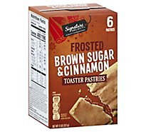 Signature SELECT Toaster Pastries Frosted Brown Sugar & Cinnamon 6 Count - 11 Oz