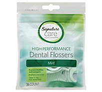 Signature Care Dental Flossers High Performance Mint - 36 Count