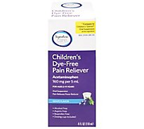 Signature Care Pain Reliever Childrens Dye Free Acetaminophen 160mg PER 5ml - 4 Fl. Oz.