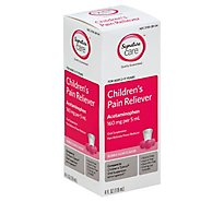 Signature Care Pain Reliever Childrens Acetaminophen 160mg PER 5ml Bublle Gum Flavor - 4 Fl. Oz.