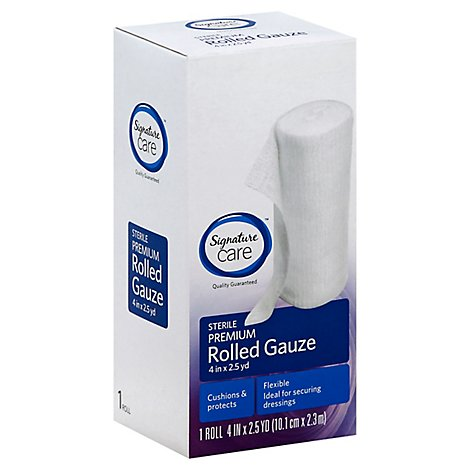 Signature Care Gauze Rolled Sterile Premium 4in x 2.5yd - Each