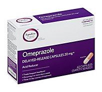 Signature Care Omeprazole Acid Reducer Delayed Release 20mg Capsule - 42 Count