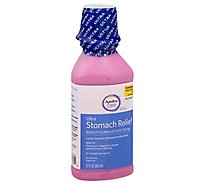 Signature Care Stomach Relief Bismuth Subsalicylate 1059mg Maximum Strength - 12 Fl. Oz.