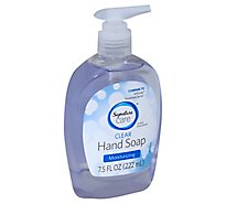 Signature Care Hand Soap Clear Moisturizing - 7.5 Fl. Oz.