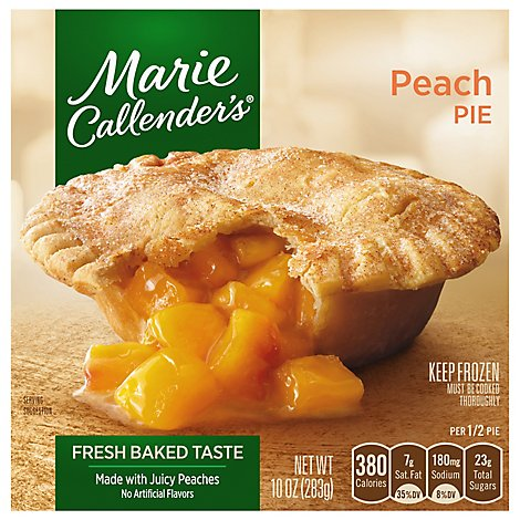 Marie Callenders Pie Peach - 10 Oz