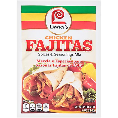Lawrys Spices & Seasonings Mix Fajitas - 1 Oz