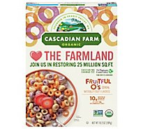 Cascadian Farm Organic Cereal Fruitful Os - 10.2 Oz