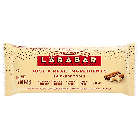 Larabar Food Bar Fruit & Nut SnickerDoodle - 16-1.6 Oz